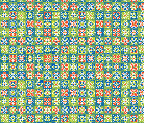 Checkered Flowers fabric by fridabarlow on Spoonflower - custom fabric
