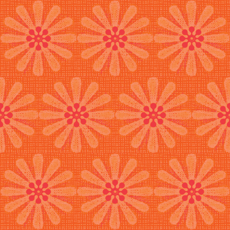 orange daisy fabric by keweenawchris on Spoonflower - custom fabric