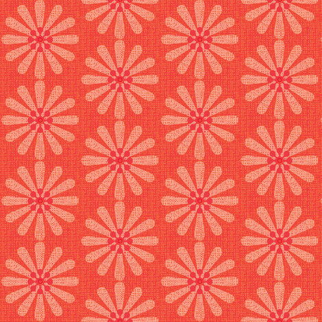 pink daisy fabric by keweenawchris on Spoonflower - custom fabric