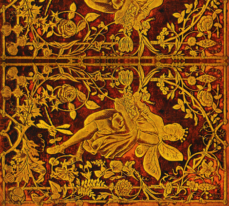 Gilded, Golden Fairytales  fabric by whimzwhirled on Spoonflower - custom fabric