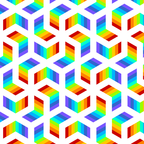 whirling chevrons 6 rainbow fabric by sef on Spoonflower - custom fabric