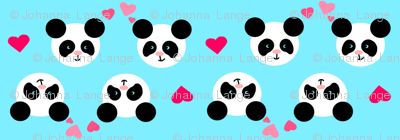 Panda Love Blue Small