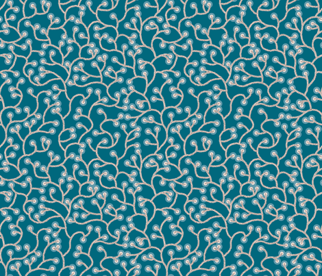 Coral Vines - depth fabric by ormolu on Spoonflower - custom fabric