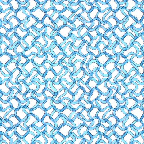 blue spirulina fabric by weavingmajor on Spoonflower - custom fabric