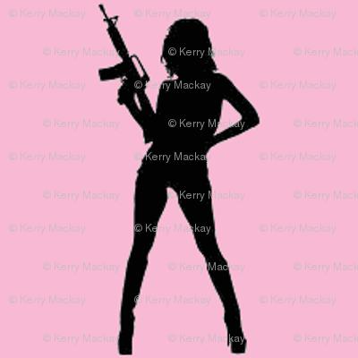 girl gun pink