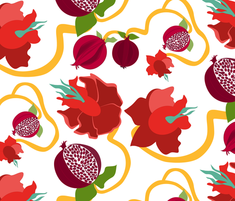 Pomegranate fabric by mag-o on Spoonflower - custom fabric