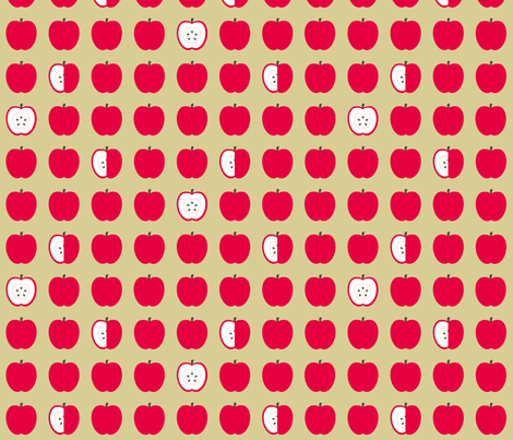 Apples fabric by evenspor on Spoonflower - custom fabric