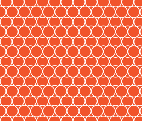 Modern_Tangerine fabric by fridabarlow on Spoonflower - custom fabric