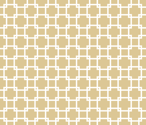 Lattice_khaki fabric by walrus_studio on Spoonflower - custom fabric