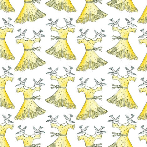 say yes to the flying dress fabric by alysnpunderland on Spoonflower - custom fabric