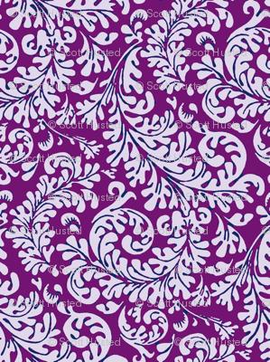 Tropical Fronds Purple