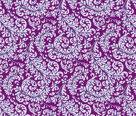 Tropical Fronds Purple fabric by flyingfish on Spoonflower - custom fabric
