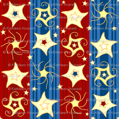Embroidered_Swirling_and_Twirling_Stars_stripes_red blue2C