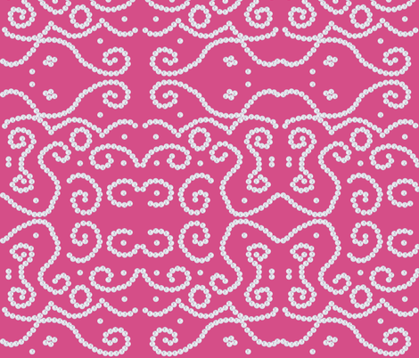Ethnic Pearls in Pink fabric by fridabarlow on Spoonflower - custom fabric