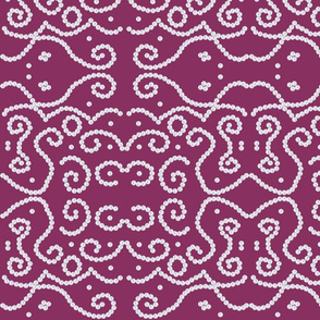 Ethnic Pearls Lace Embroidery Design in Purple