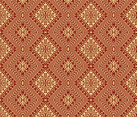 Tribal Diamonds Brown fabric by flyingfish on Spoonflower - custom fabric