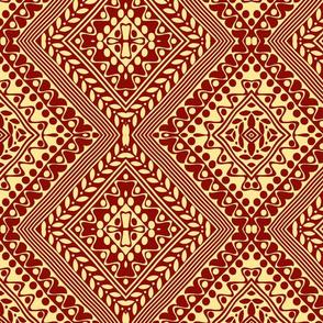Tribal Diamonds Brown