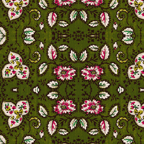 British Chintz Green fabric by flyingfish on Spoonflower - custom fabric