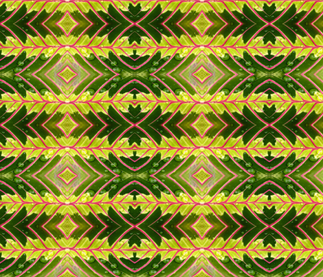 Tropical Leaf fabric by flyingfish on Spoonflower - custom fabric