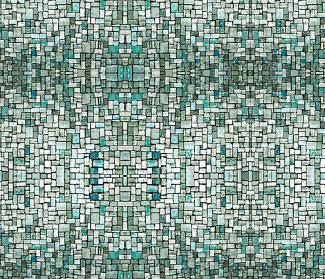 Sea Mosaic fabric by flyingfish on Spoonflower - custom fabric