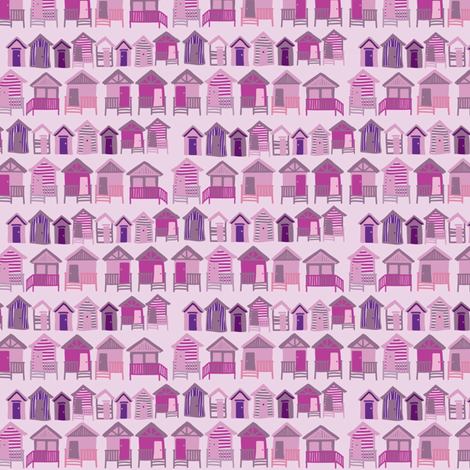 beach_huts_dusk fabric by owls on Spoonflower - custom fabric
