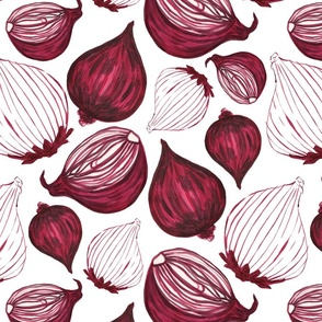 Red onion pattern