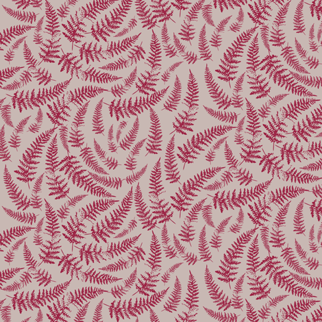 bracken_beige-maroon fabric by owls on Spoonflower - custom fabric