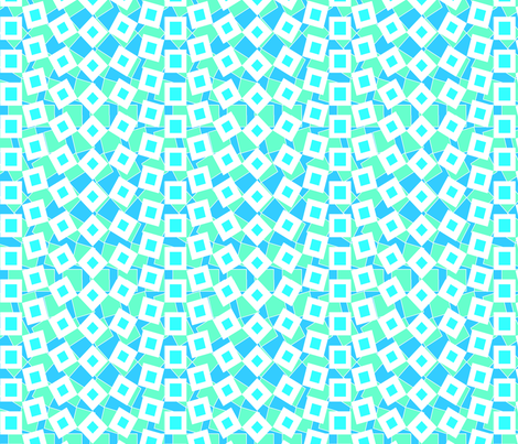 squared_away_ocean fabric by glimmericks on Spoonflower - custom fabric