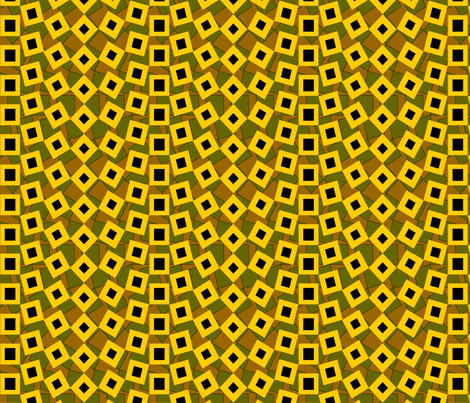 squared_away_blackeyed_susan fabric by glimmericks on Spoonflower - custom fabric