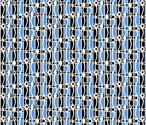 striped_mod_blue fabric by glimmericks on Spoonflower - custom fabric