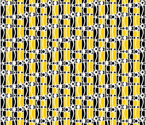 striped_mod_gold fabric by glimmericks on Spoonflower - custom fabric