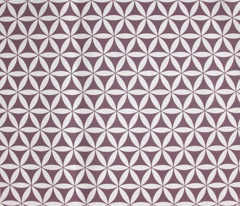 Flower of Life, Plum/White simplicity