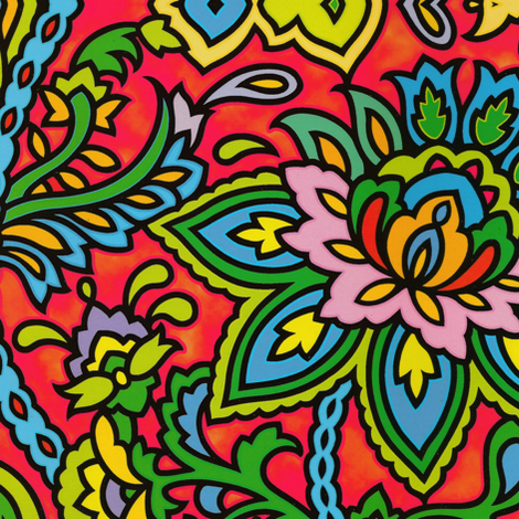 Paisley Pop fabric by whimzwhirled on Spoonflower - custom fabric
