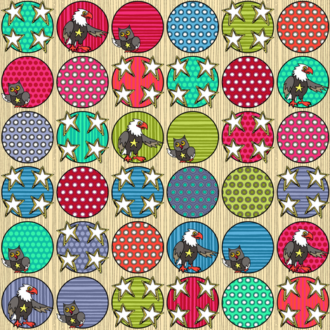 American friends fabric by scrummy on Spoonflower - custom fabric
