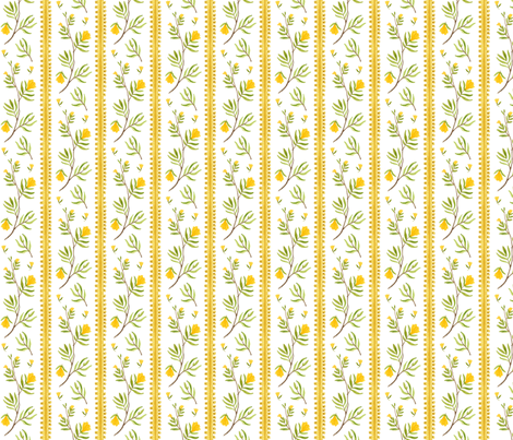 Sprig Stripe - Frolic collection fabric by gollybard on Spoonflower - custom fabric