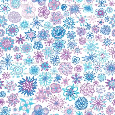 Wee Flowers Ditzy Print