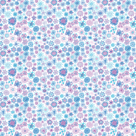 Wee Flowers Ditzy Print fabric by tallulahdahling on Spoonflower - custom fabric