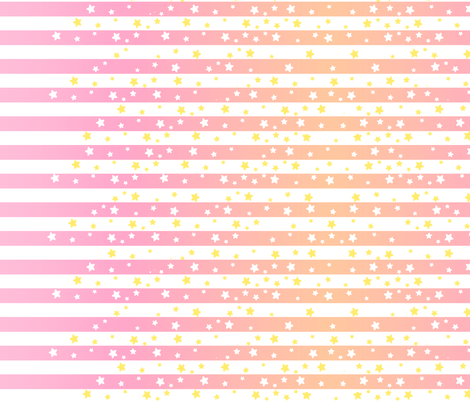 Pink Stars and Stripes fabric by lovelylatte on Spoonflower - custom fabric