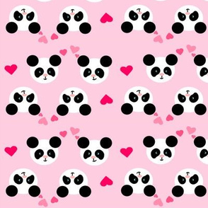 Panda Love Purple Small