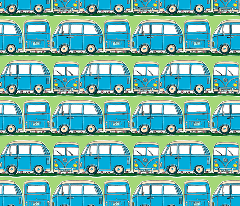 Campervan Stripe fabric by woodle_doo on Spoonflower - custom fabric
