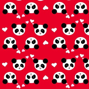 Panda Love Red Small