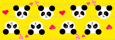 Panda Love Yellow Small