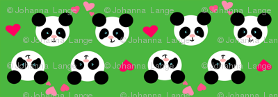 Panda Love Green Small