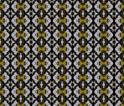 Swirls of Mustard, Black and White fabric by anniedeb on Spoonflower - custom fabric