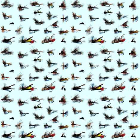 fishing flies fabric by weebeastiecreations on Spoonflower - custom fabric
