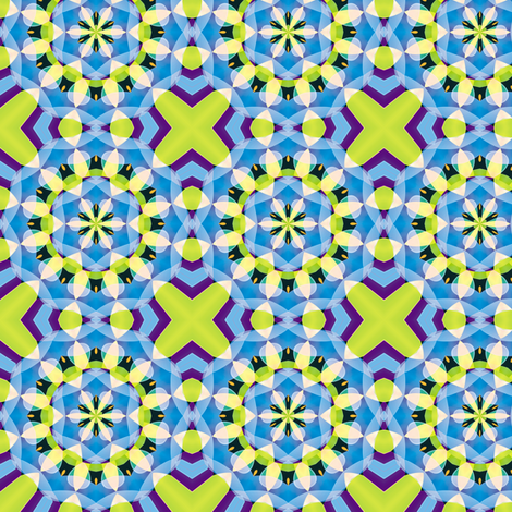 Crystal Kaleidoscope 1, S fabric by animotaxis on Spoonflower - custom fabric