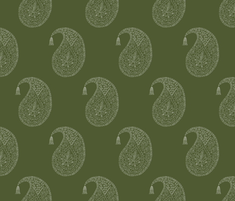Bangalore in moss fabric by domesticate on Spoonflower - custom fabric