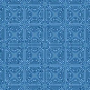 Blue Crisscross Geometric © Gingezel™ 2012