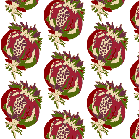pomegranate  fabric by paragonstudios on Spoonflower - custom fabric
