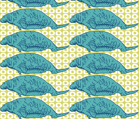Steller's Sea Cow fabric by lesliebedell on Spoonflower - custom fabric
